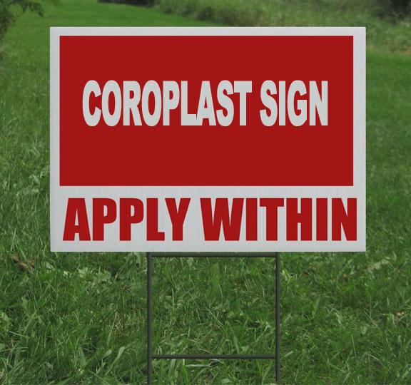 Coroplast Lawn Signs