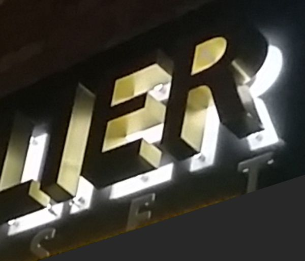 Back lit Channel Letters
