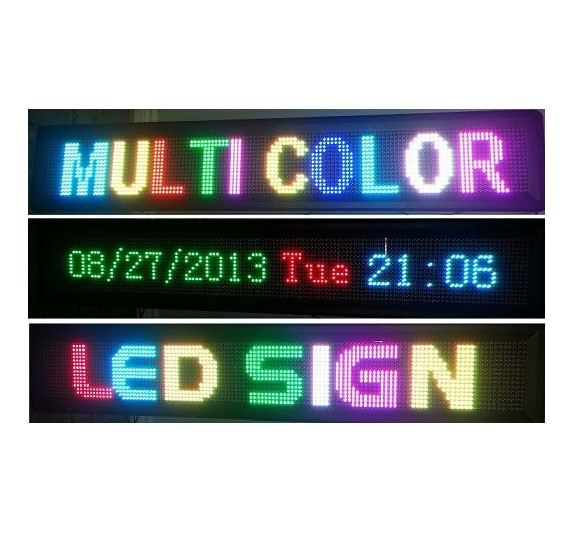 Multi-Color LED Sign